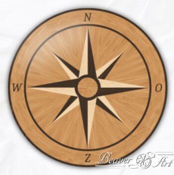 compas in eik, wenge en esdoorn
