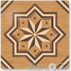 Kan als blikvanger in een kamer gebruikt worden of als doorlopende tegels, deze uitvoering is in eik, esdoorn en notelaar. Maten en houtsoorten zijn aanpasbaar.