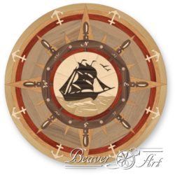 Ship sailing parquet