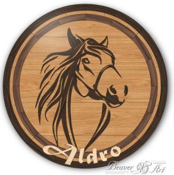 Wooden horse tile