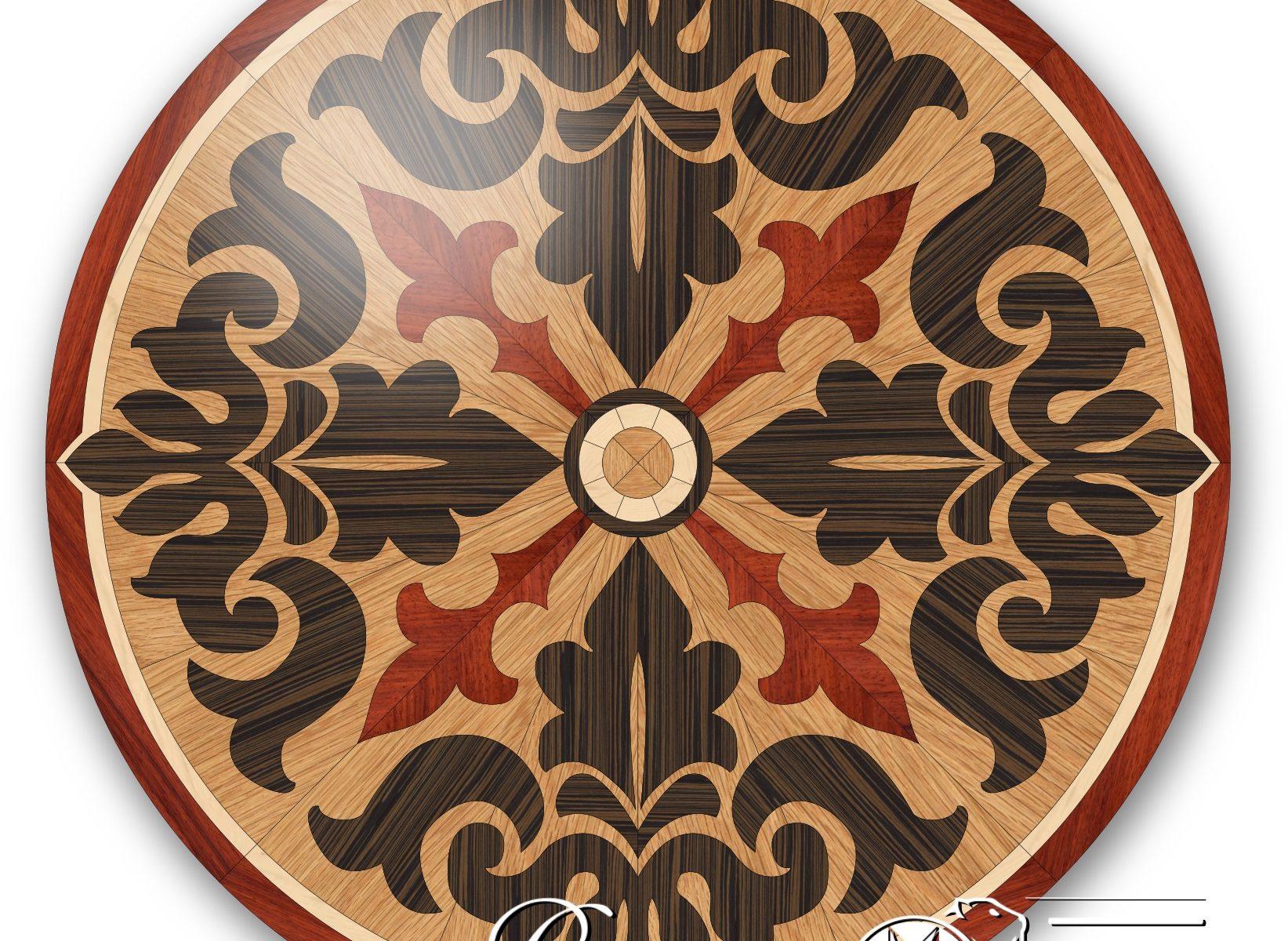Decorative wooden tile