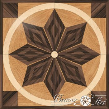Tile diamonds as an eye catcher or to floor a complete room, used woods are oak, wenge , maple and walnut