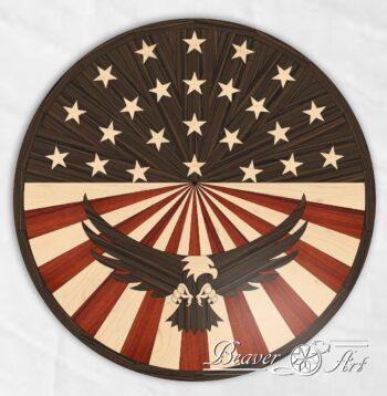 American flag 4 padauk, wenge, maple