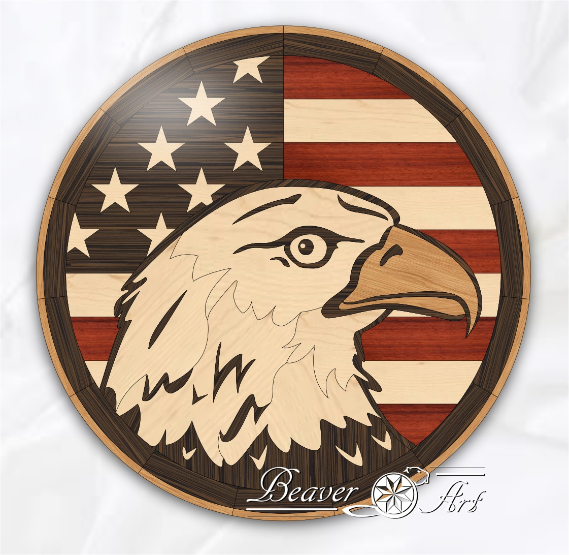 American flag as tabletop