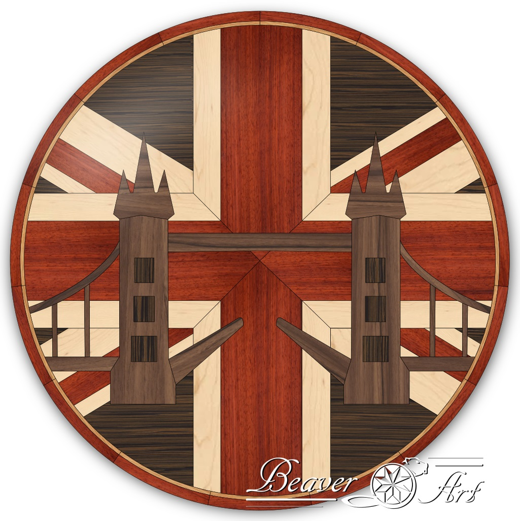 Union JackBritish monoments, hardwood flooring