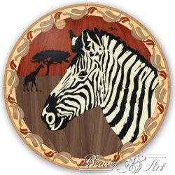 Zebra, savanne, wildlife parquet