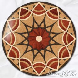 hardwood mandala in floor