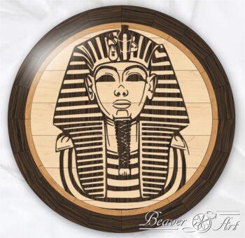 wooden pharaoh in floor