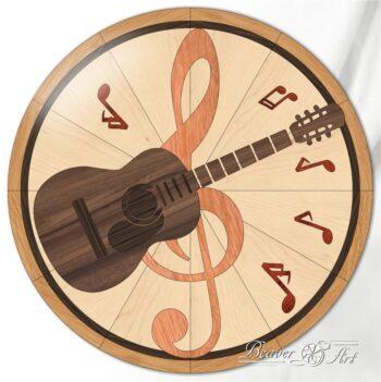 Wooden inlay guitar decoration