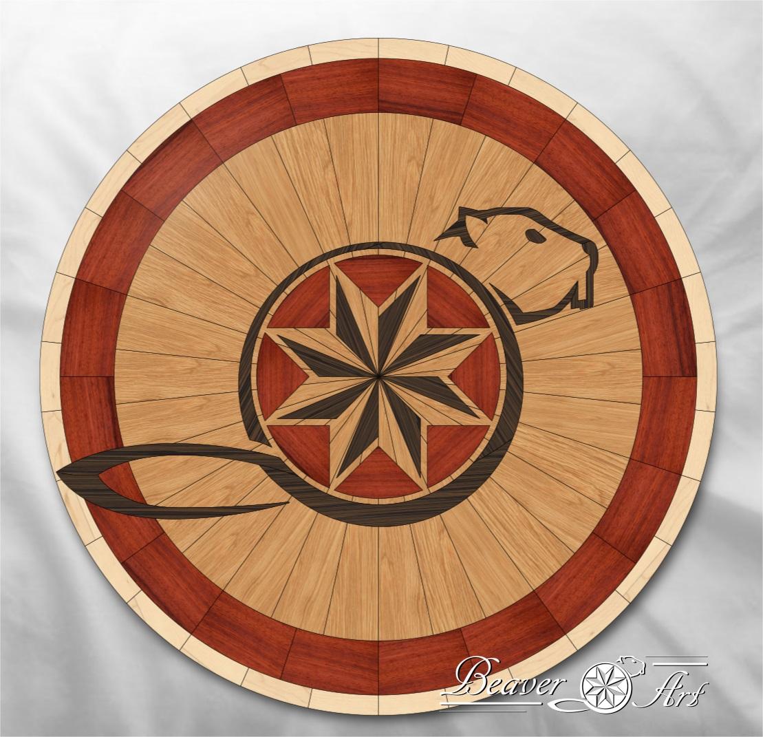 wooden floor design logo