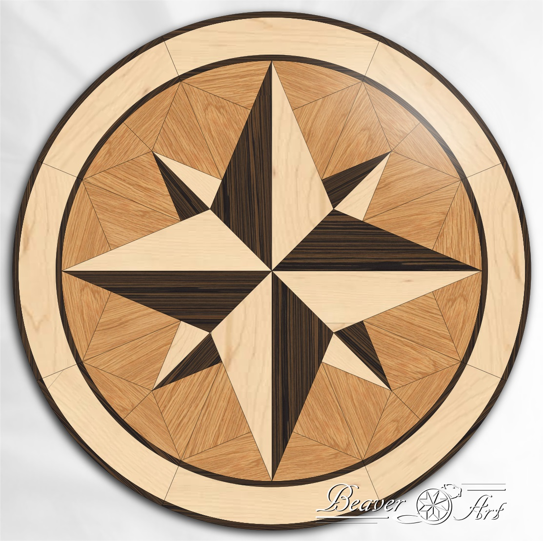 wooden star parquet